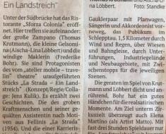 La Strada- Ein Landstreich/ Köln 2019/ Kritik