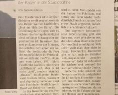 »Blut am Hals der Katze« von Rainer Werner Fassbinder/ Köln 2020/ Presse