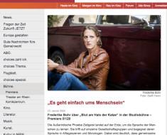 """""""Es geht einfach ums Menschsein""""- Frederike Bohr über """"Blut am Hals der Katze"""" / choices Köln"""
